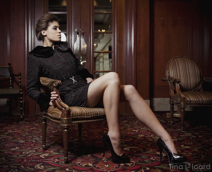 Tweed and Faux fur Haute Couture dress-coat, Fall/Winter 2012